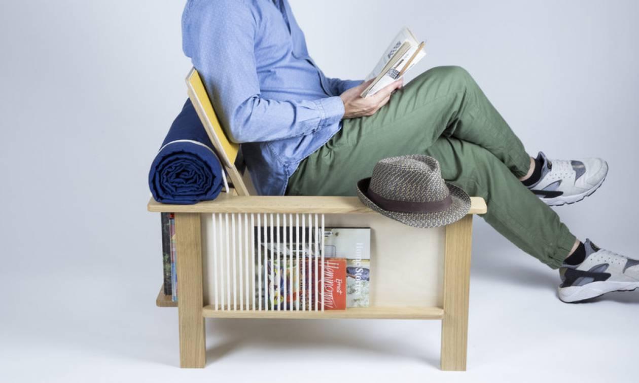 Απίστευτο! Έφτιαξαν καρέκλα-βιβλιοθήκη!