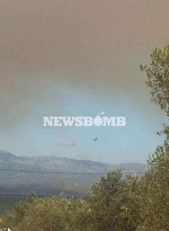 Φωτιά Εύβοια: Εκκενώνονται τα χωριά Κοντοδεσπότι και Σταυρός (pics+vid)