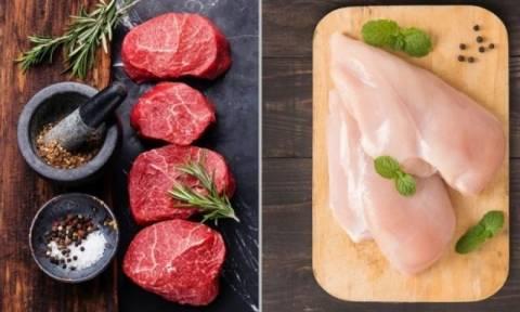 Κόκκινο κρέας – λευκό κρέας: Ποια είδη ανήκουν σε κάθε κατηγορία
