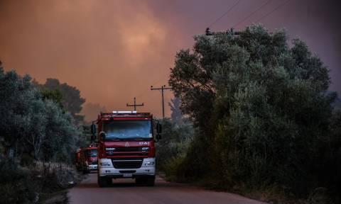 Φωτιά Εύβοια: Σύσκεψη του Συμβουλίου Διαχείρισης Κρίσεων
