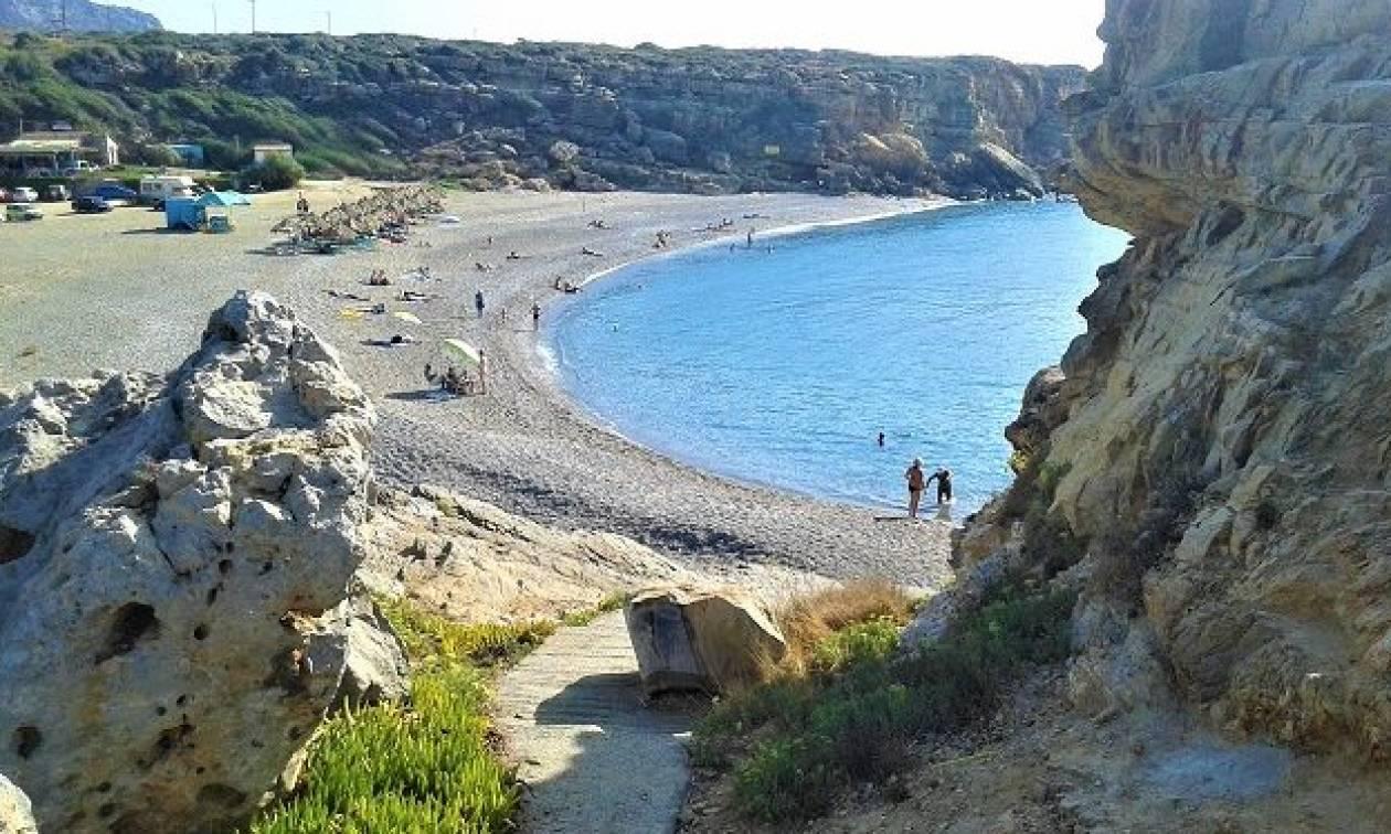 Σπηλιές: Η άγνωστη παραλία για τους πιο δραστήριους στο Ρέθυμνο