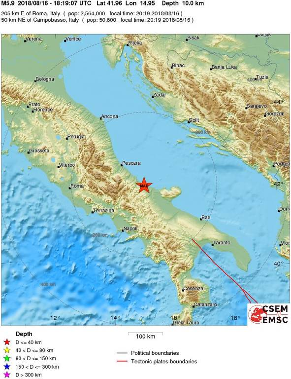 Ισχυρός σεισμός χτύπησε ΤΩΡΑ την Ιταλία