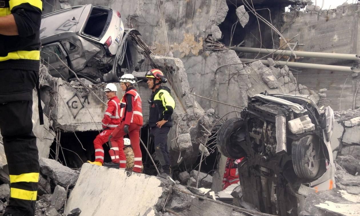 Γένοβα: Τραγωδία δίχως τέλος - Ανέσυραν κι άλλες σορούς από τα συντρίμμια της γέφυρας (pics)