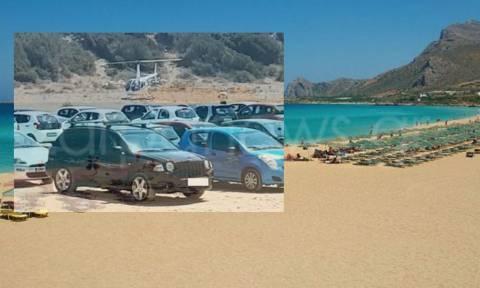 Απίστευτο: Τραπεζίτης πήγε για μπάνιο στην Κρήτη με το ελικόπτερό του σε περιοχή Natura