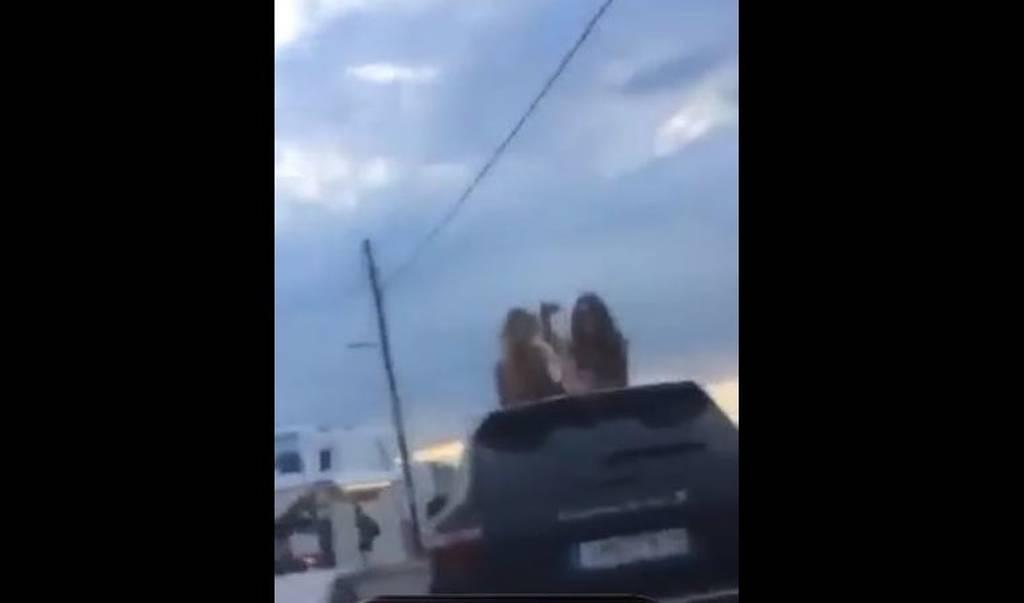 Βίντεο viral: Ερωτικές περιπτύξεις πάνω σε αυτοκίνητο στη Μύκονο (pics & video)