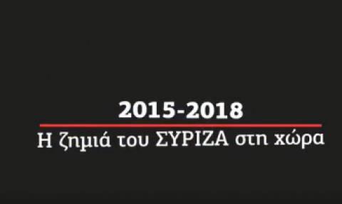 ΝΔ: Αυτή είναι η ζημιά της τριετίας ΣΥΡΙΖΑ (video)