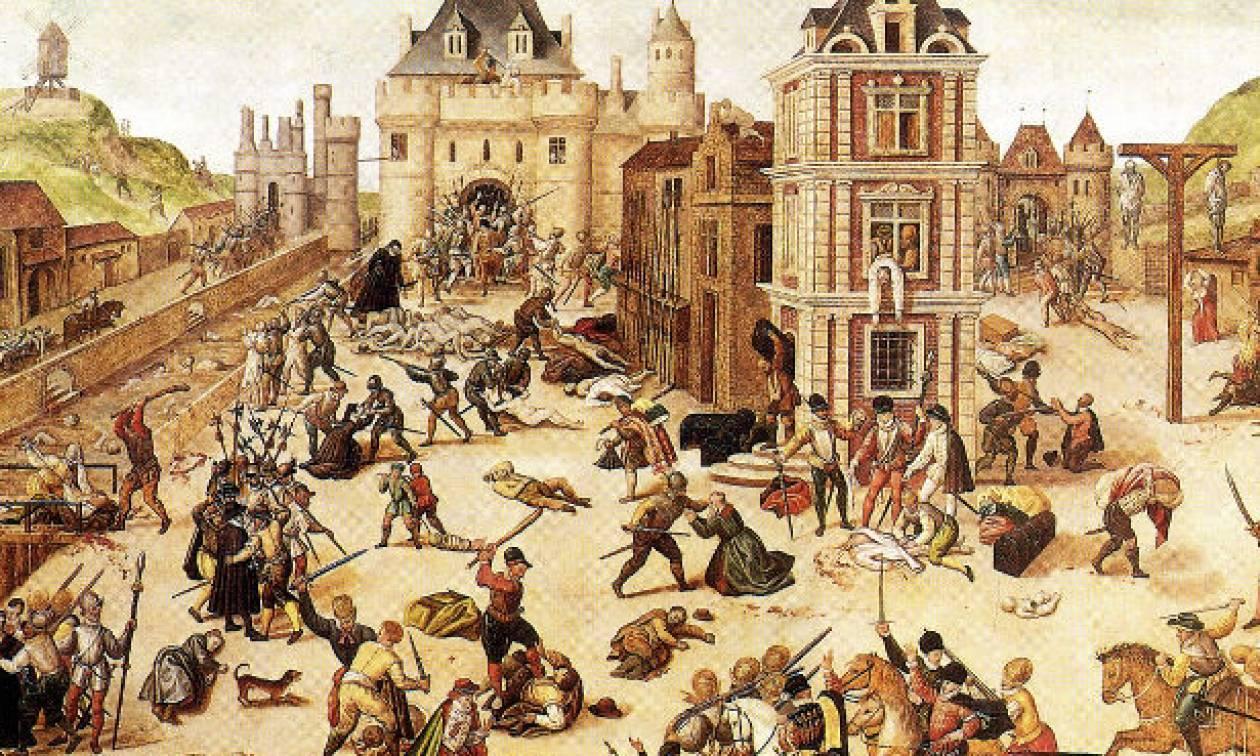 Σαν σήμερα το 1572 η Νύχτα του Αγίου Βαρθολομαίου