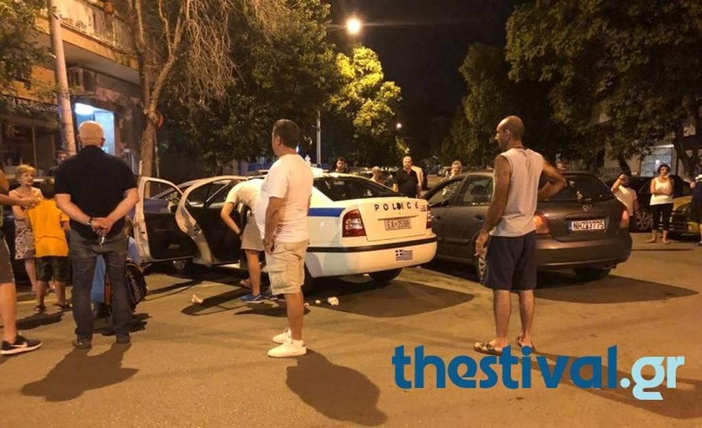 Θεσσαλονίκη: Περιπολικό συγκρούστηκε με ΙΧ - Τέσσερις τραυματίες (pics)