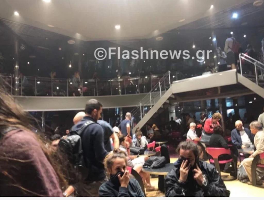 «Ελευθέριος Βενιζέλος»: Τρομακτικές φωτογραφίες από το φλεγόμενο πλοίο