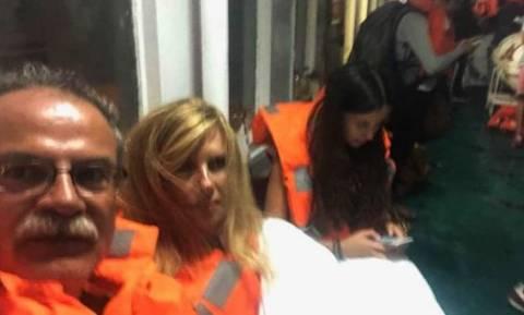 «Ελευθέριος Βενιζέλος»: Η περιπέτεια του δημάρχου Πλατανιά στο φλεγόμενο πλοίο (vid)