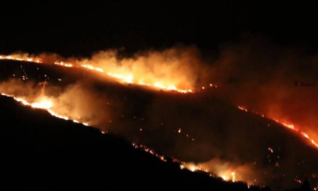 Φωτιά ΤΩΡΑ στο χωριό Αργάσι στη Ζάκυνθο