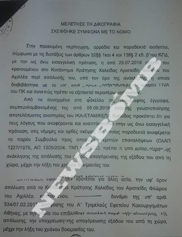 Σκάνδαλο Energa: Στην Εισαγγελία Διαφθοράς ο γιατρός που πλαστογράφησε τη γνωμάτευση για τον Φλώρο