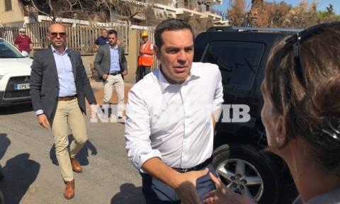 PM Tsipras visits fire-stricken Mati, inspects progress of restoration works