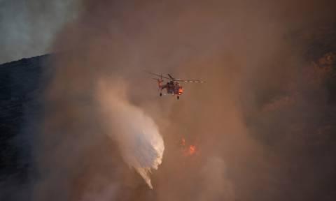 Φωτιά στη Ρόδο: Τέθηκε υπό έλεγχο το πύρινο μέτωπο