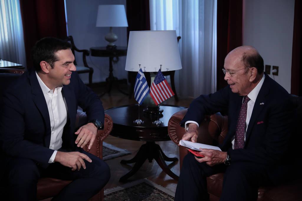 ΕΚΤΑΚΤΟ - ΔΕΘ 2018: Σε εξέλιξη η συνάντηση Τσίπρα με τον Αμερικανό υπουργό Εμπορίου στη Θεσσαλονίκη