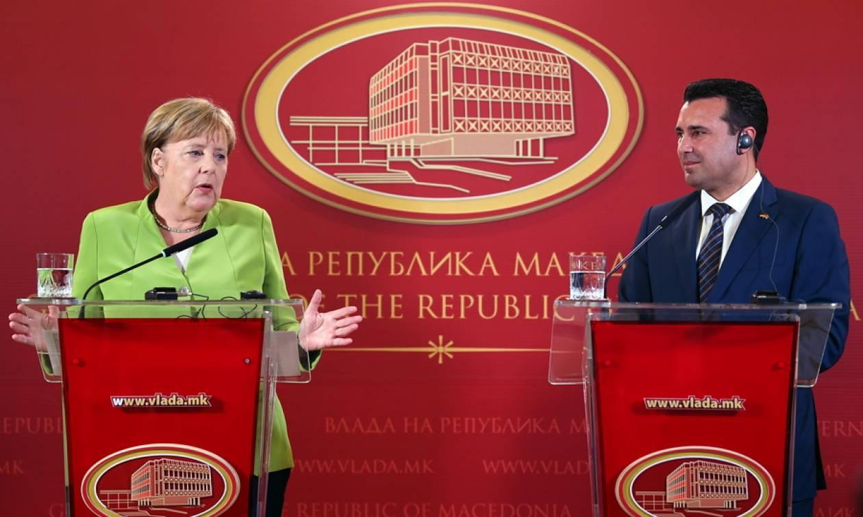 Μέρκελ σε Σκόπια: Αλλάξτε το όνομά σας με το δημοψήφισμα για να μπείτε σε ΝΑΤΟ και Ε.Ε.