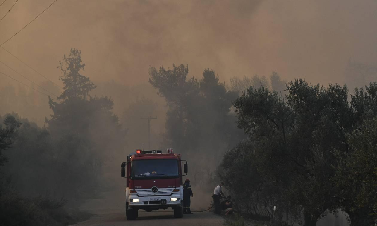 Μεγάλη φωτιά στη Λευκίμμη Αλεξανδρούπολης