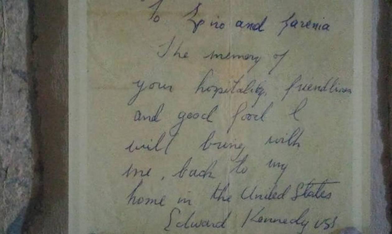 Παξοί: Η αγάπη του Έντουαρντ Κένεντι για το νησί και το ιδιόχειρο σημείωμά του