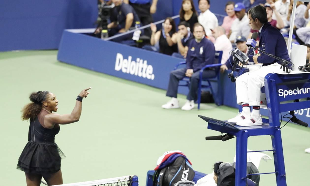 Πρόστιμο στη Σερένα Γουίλιαμς για τη συμπεριφορά της στον τελικό του US Open (vids)
