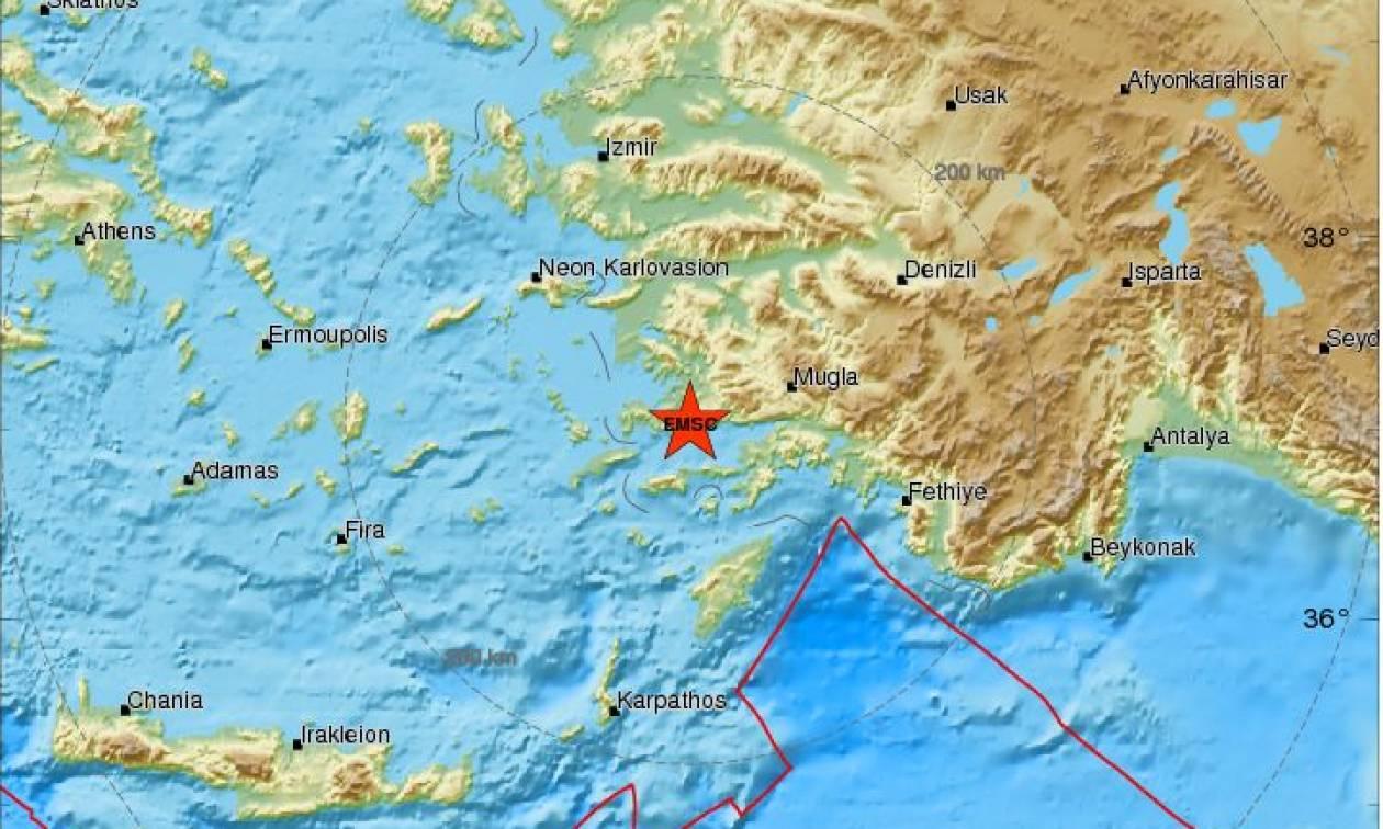 Σεισμός 4,4 Ρίχτερ στην Τουρκία - Αισθητός και στα Δωδεκάνησα