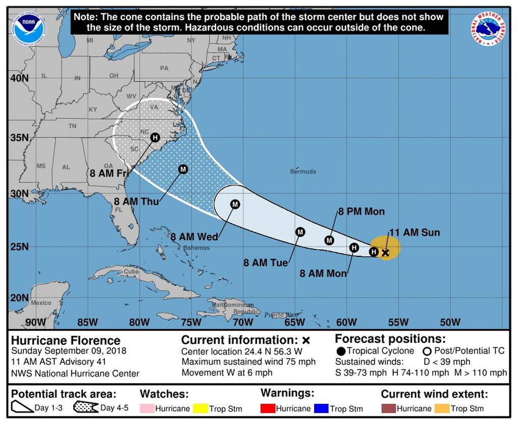 Συναγερμός στις ΗΠΑ για τον τυφώνα Φλόρενς: Εκκενώνονται περιοχές (vid)