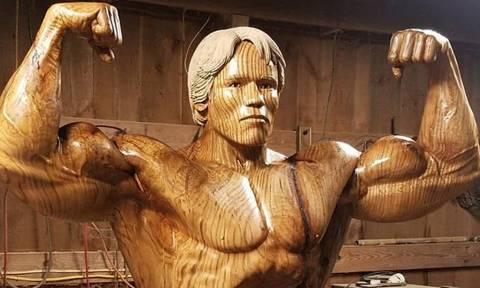 Δείτε από τι είναι φτιαγμένο το νέο άγαλμα του Άρνολντ Σβαρτσενέγκερ! (pics)