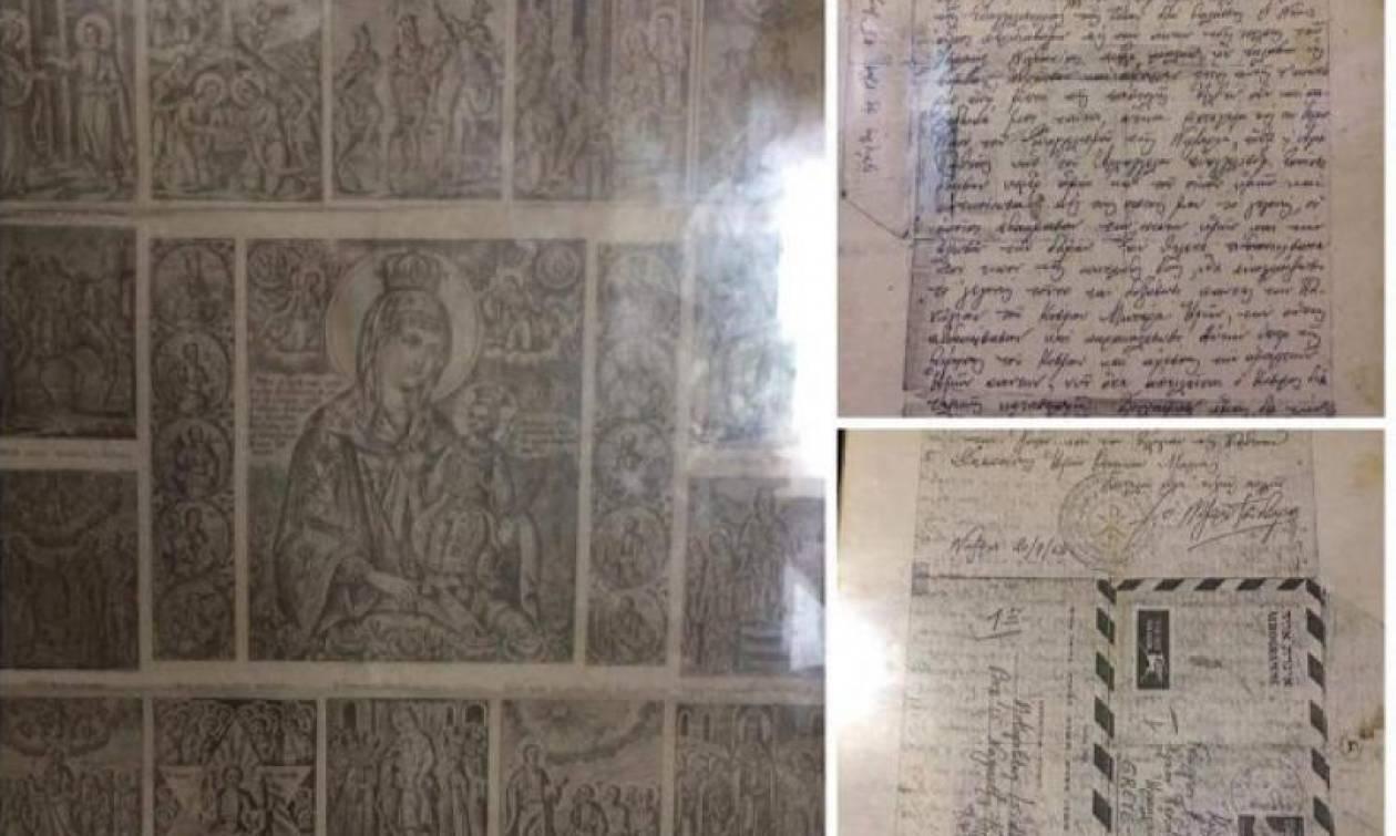 Θαυματουργή εικόνα της Παναγίας με τους 24 στίχους του Ακάθιστου Ύμνου