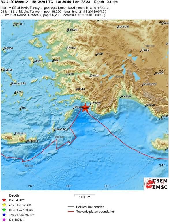 Σεισμός ΤΩΡΑ στην Τουρκία - Αισθητός και στα Δωδεκάνησα