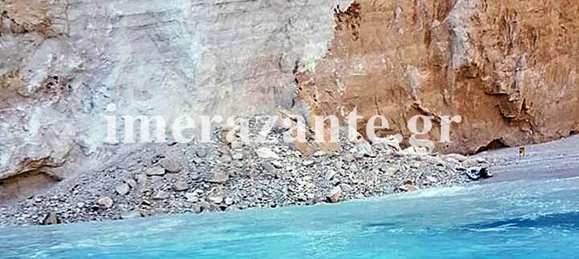 ΕΚΤΑΚΤΟ: Πτώση βράχου στο ναυάγιο της Ζακύνθου - Μία τραυματίας