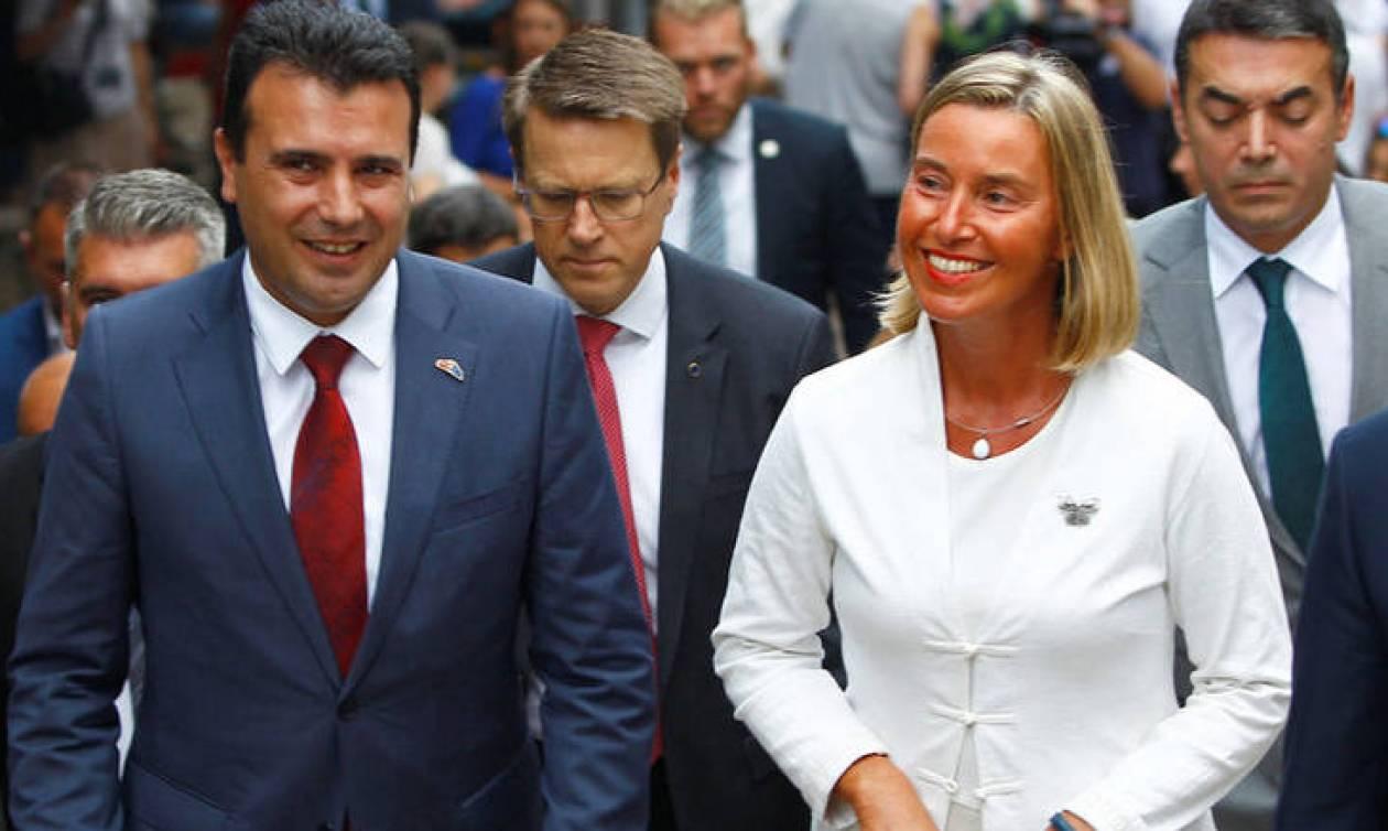 Η Μογκερίνι στηρίζει τη Συμφωνία των Πρεσπών και το επικείμενο δημοψήφισμα στα Σκόπια