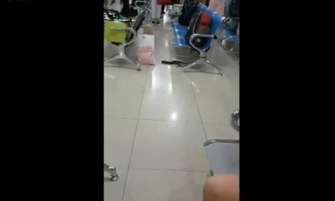 Τρόμος σε αεροδρόμιο - Δείτε τι πέρασε από τα μέτρα ασφαλείας (vid)
