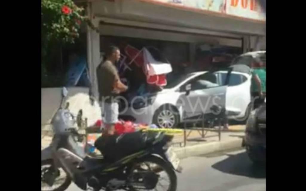 Χανιά: Έχασε τον έλεγχο του αυτοκινήτου και «μπούκαρε» σε μίνι μάρκετ (pics)