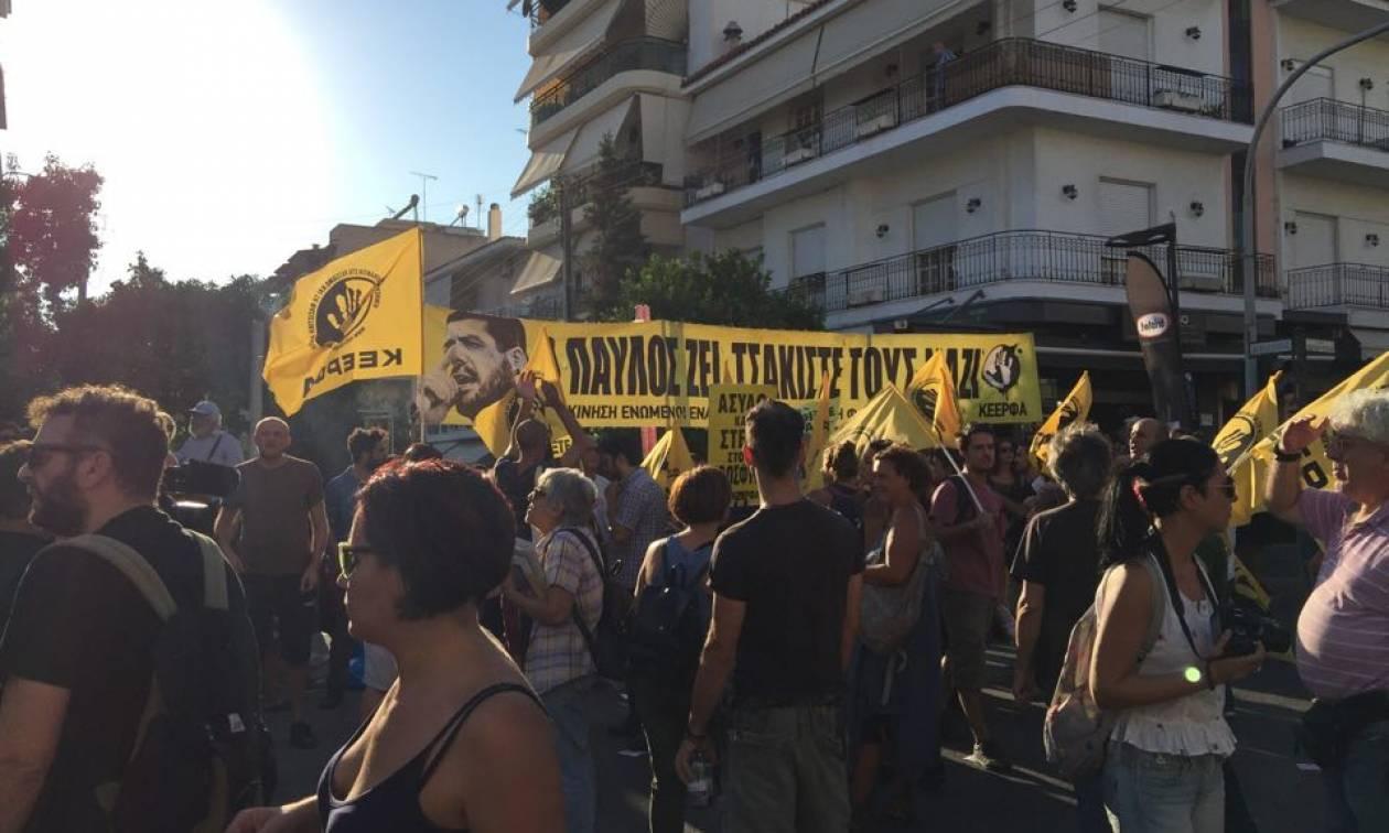Παύλος Φύσσας: Συγκέντρωση και πορεία στο Κερατσίνι για τα πέντε χρόνια από τη δολοφονία του