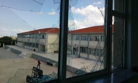 Χανιά: Στόχος βανδαλιστών έγινε το Επαγγελματικό Λύκειο