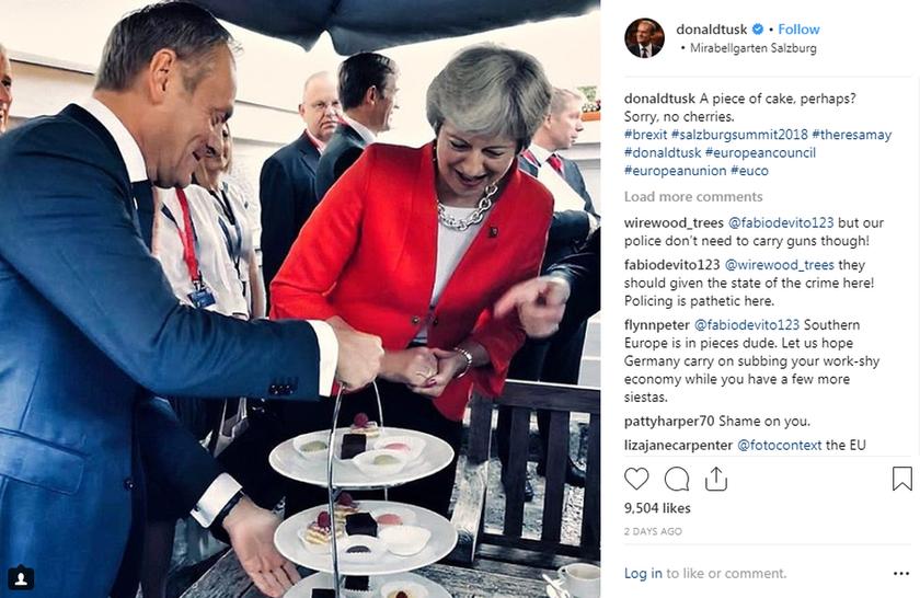 Έξαλλοι οι Βρετανοί με τον Ντόναλντ Τουσκ: Ανήρτησε προκλητική φωτογραφία που τους εμπαίζει (Pic)