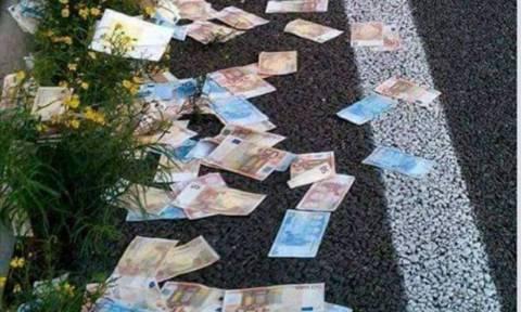Αγρίνιο: Η Εθνική Οδός γέμισε με δεκάδες χαρτονομίσματα!