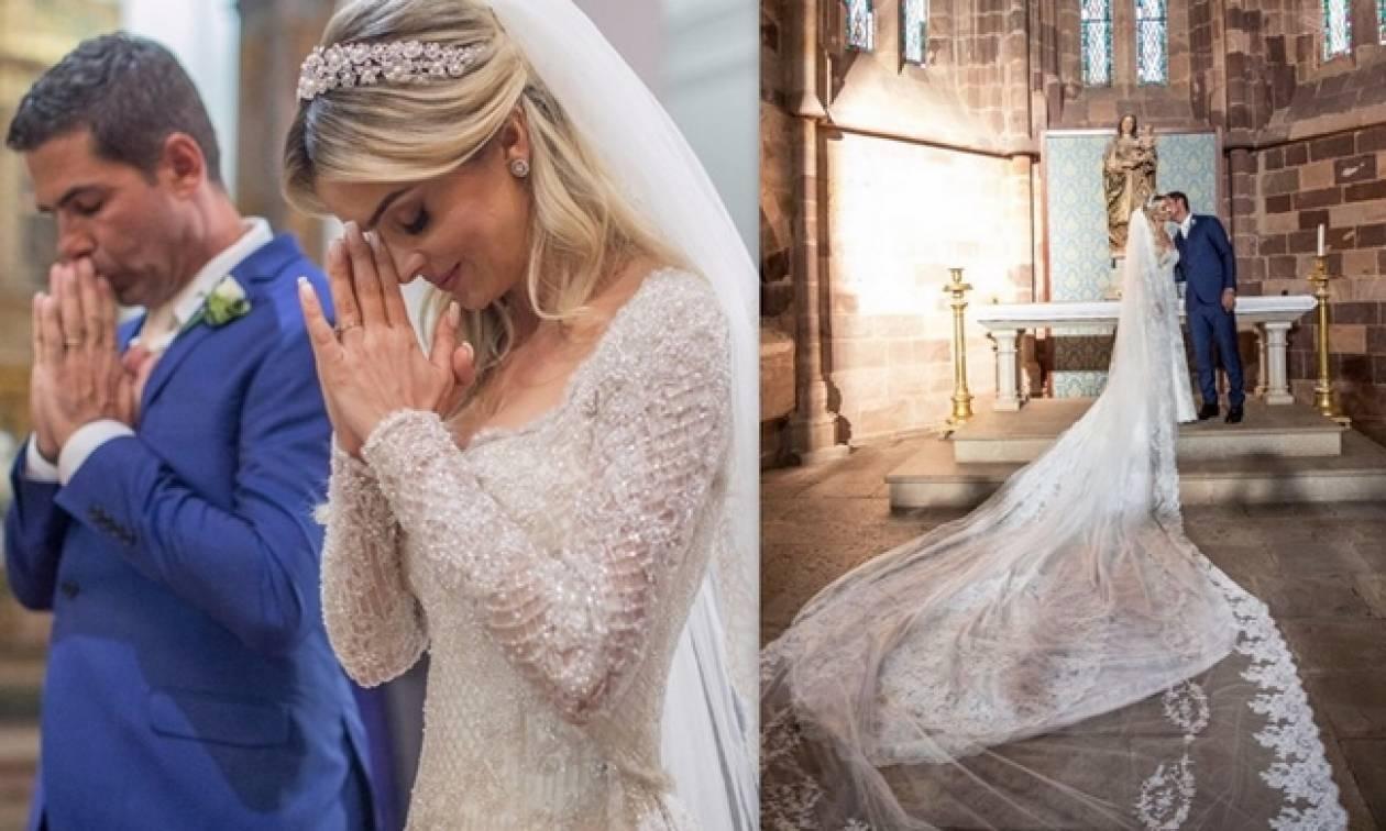 Ντενίζ Σεβέρο  Οι νέες φωτό από τον γάμο της με τον Αλβάρο και το ... 85eb4410043