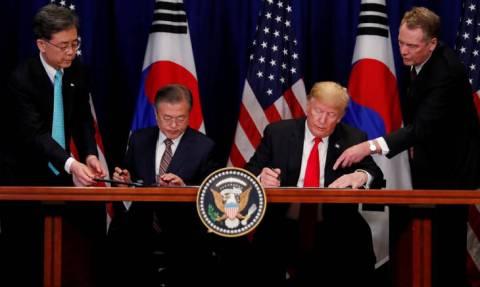 Τραμπ: Ιστορικό ορόσημο η νέα εμπορική συμφωνία ΗΠΑ - Νότιας Κορέας
