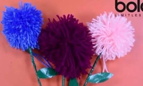 Φτιάξε εύκολα τα πιο ωραία διακοσμητικά pom pom από μαλλί