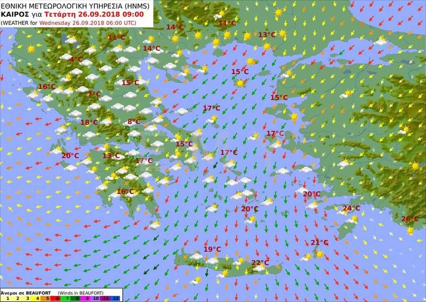 Έκτακτο δελτίο ΕΜΥ: Σαρώνει στο περάσμά του ο «Ξενοφών» - 10 μποφόρ οι άνεμοι στο Αιγαίο (pics)