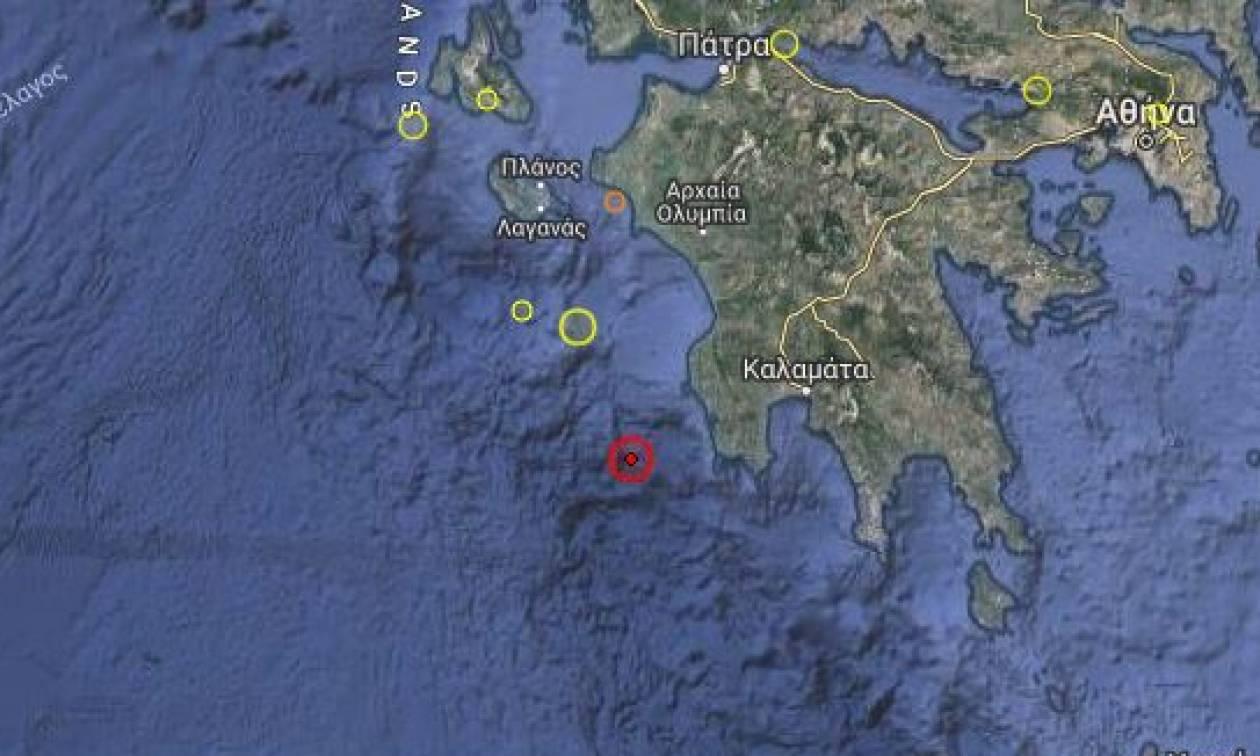 Ισχυρός σεισμός στη Μεθώνη - Αισθητός σε όλη την Πελοπόννησο