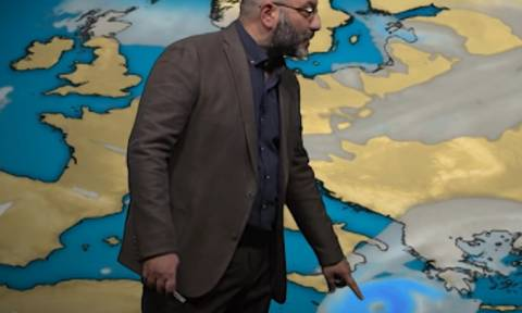 Κυκλώνας Ζορμπάς: Η πρόγνωση του Σάκη Αρναούτογλου για τον κυκλώνα και η πορεία του ανά ώρα (video)
