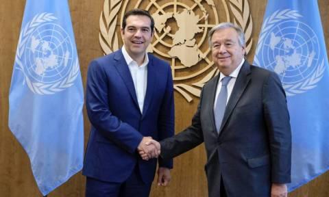 Προσφυγικό, Σκόπια και Κυπριακό στο επίκεντρο της συνάντησης Τσίπρα-Γκουτέρες