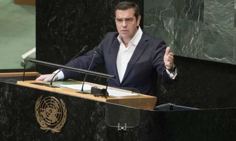 Τσίπρας στον ΟΗΕ: Οι Έλληνες κατάφεραν να σταθούν όρθιοι και να διδάξουν αλληλεγγύη (video)