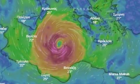 Κυκλώνας «Ζορμπάς»: Δείτε LIVE την πορεία του και πώς να προστατευτείτε από τα έντονα φαινόμενα