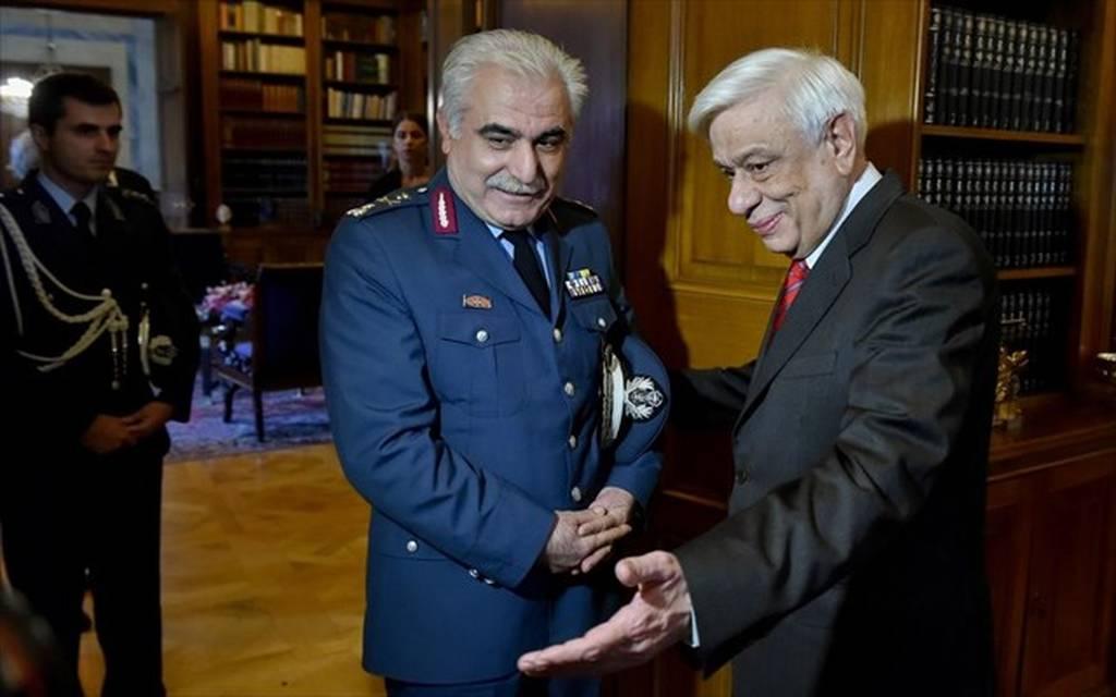Τον νέο αρχηγό της Ελληνικής Αστυνομίας υποδέχθηκε στο Προεδρικό Μέγαρο ο Προκόπης Παυλόπουλος