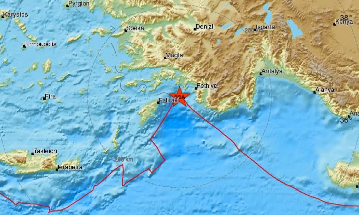 Σεισμός ανατολικά της Ρόδου (pics)