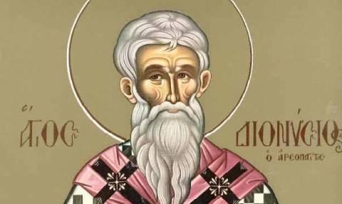 Άγιος Διονύσιος ο Αρεοπαγίτης: Ποιος ήταν - Γιατί είναι πολιούχος της Αθήνας;