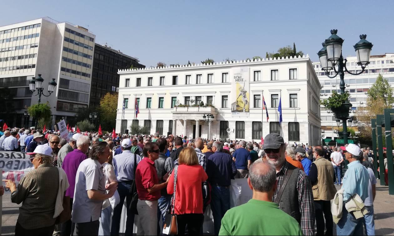 Διαμαρτυρία συνταξιούχων στην Αθήνα (pics&vids)