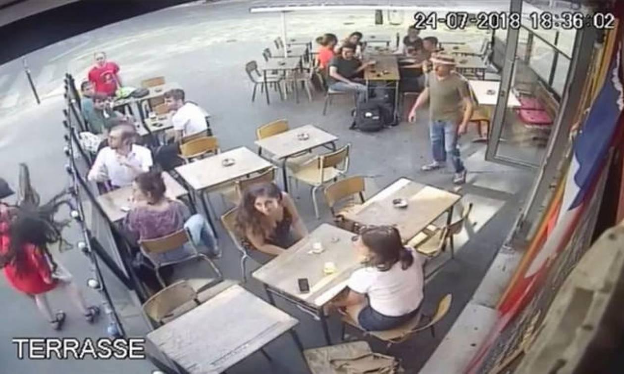 Γαλλία  Ποινή φυλάκισης 6 μηνών στον άνδρα που γρονθοκόπησε γυναίκα έξω από  καφέ (vid f3f61c94067